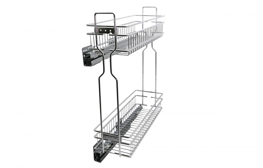 Soft-closing bottle rack full extension D'Conti
