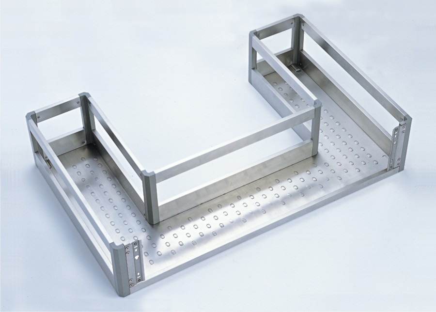 Soft closing under sink drawer full extension - inox